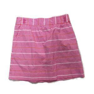 VINEYARD VINES Whale Stripe Skirt- Pink/orange